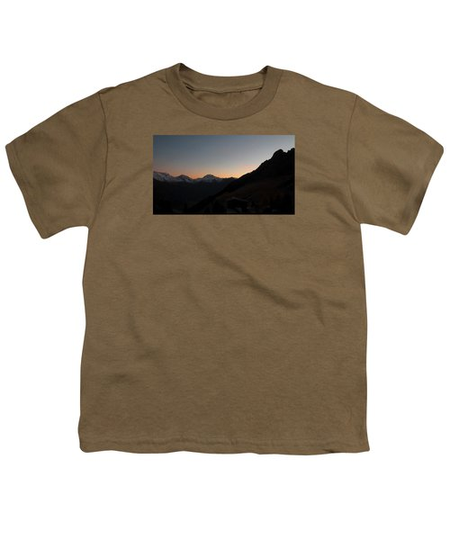 Sunset Afterglow In The Mountains Youth T-Shirt