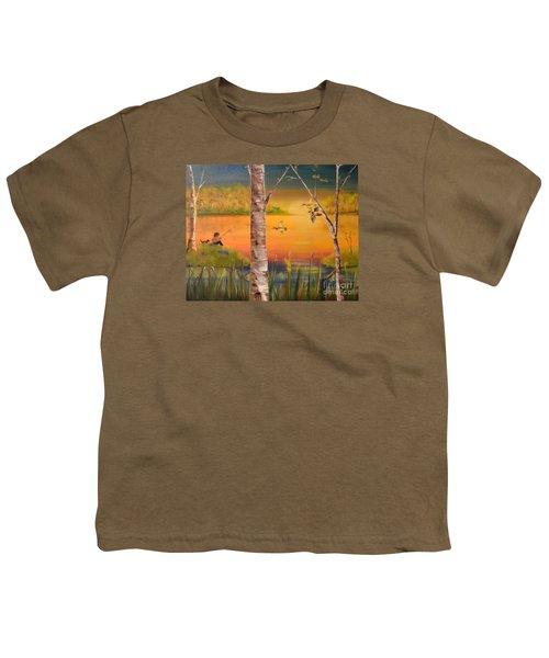 Sunset Fishing Youth T-Shirt