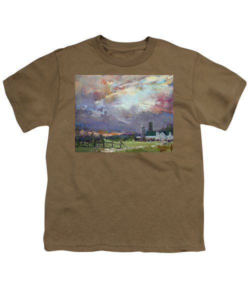 Sunset In A Troubled Weather Youth T-Shirt
