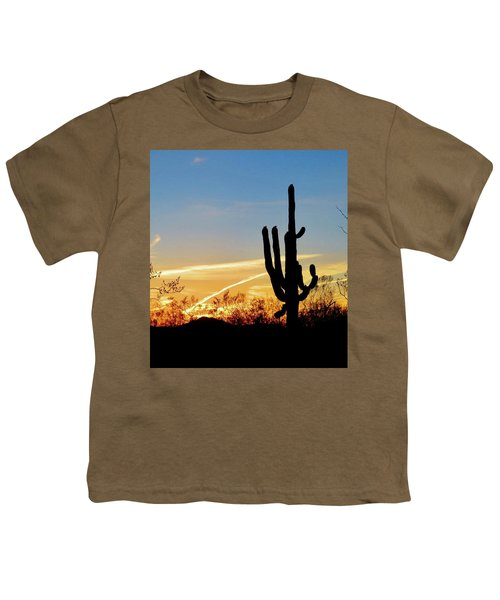 Sunset Saguaro In The Spring Youth T-Shirt
