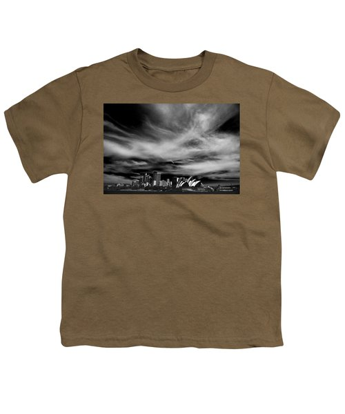 Sydney Skyline With Dramatic Sky Youth T-Shirt