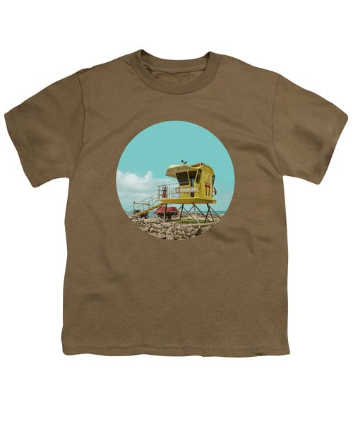 T7 Lifeguard Station Kapukaulua Beach Paia Maui Hawaii Youth T-Shirt