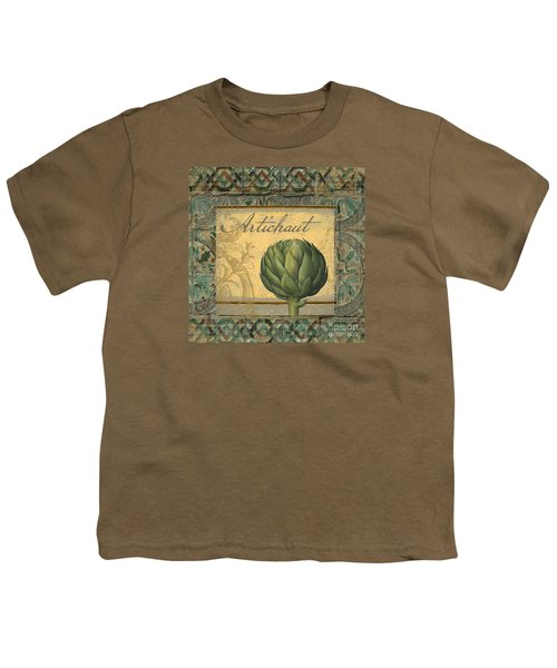 Tavolo, Italian Table, Artichoke Youth T-Shirt by Mindy Sommers