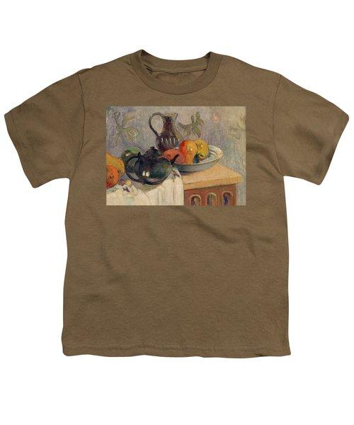 Teiera Brocca E Frutta Youth T-Shirt by Paul Gauguin