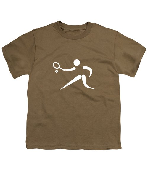 Tennis Player Youth T-Shirt by Frederick Holiday
