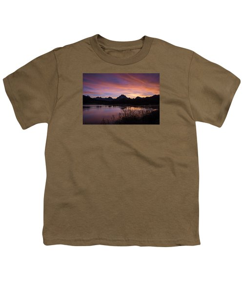 Youth T-Shirt featuring the photograph Teton Sunset by Gary Lengyel