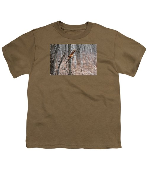 The American Woodcock In-flight Youth T-Shirt by Asbed Iskedjian