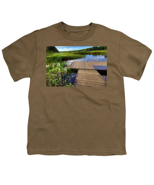 The Dock At Mountainman Youth T-Shirt by David Patterson