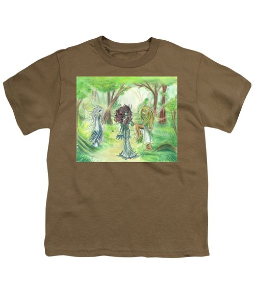 The Fae - Sylvan Creatures Of The Forest Youth T-Shirt