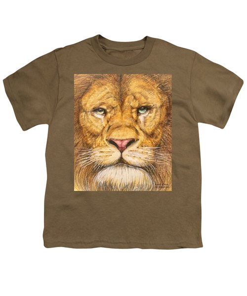 The Lion Roar Of Freedom Youth T-Shirt by Kent Chua