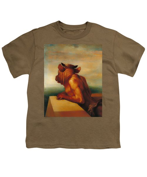 The Minotaur  Youth T-Shirt by Mountain Dreams