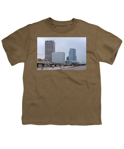 Youth T-Shirt featuring the photograph The New Milwaukee Skyline by Randy Scherkenbach