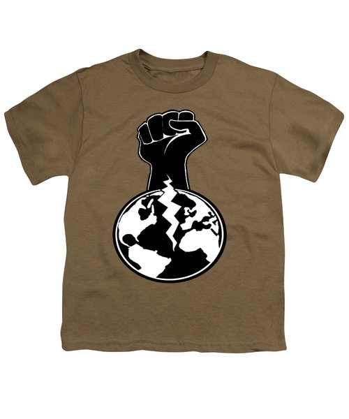 Youth T-Shirt featuring the digital art The Orchestrator Fist by Jayvon Thomas