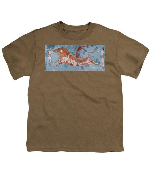 The Toreador Fresco, Knossos Palace, Crete Youth T-Shirt by Greek School