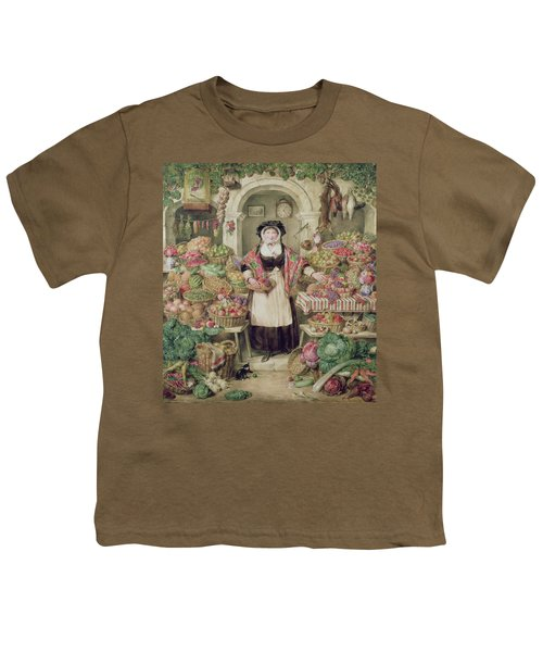 The Vegetable Stall  Youth T-Shirt by Thomas Frank Heaphy