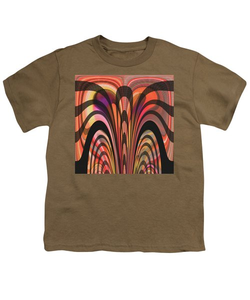 Youth T-Shirt featuring the digital art The Yellow Show by Mihaela Stancu