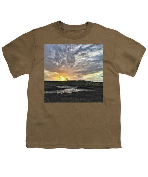 Tonight's Sunset From Thornham Youth T-Shirt