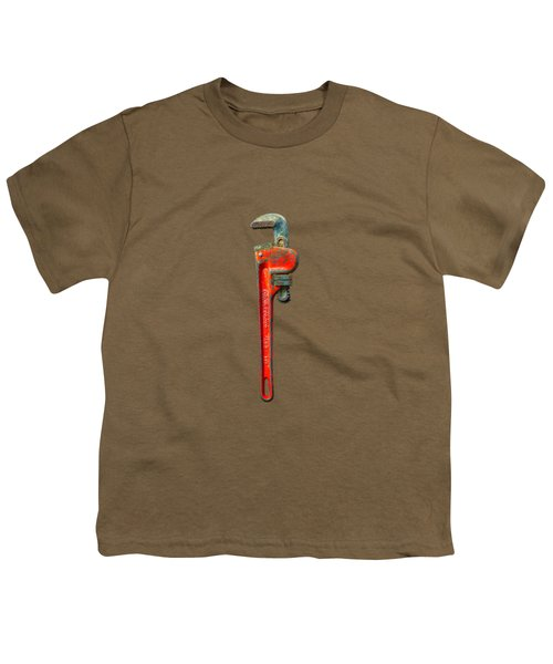 Tools On Wood 62 On Bw Youth T-Shirt