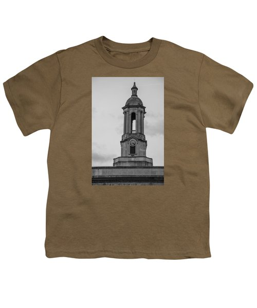 Tower At Old Main Penn State Youth T-Shirt by John McGraw