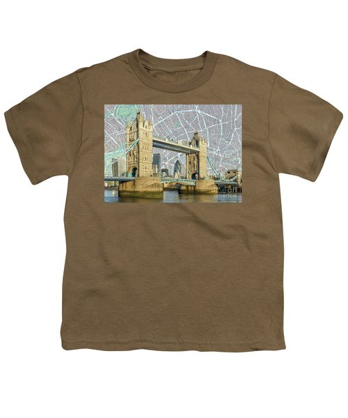 Youth T-Shirt featuring the digital art Tower Bridge by Adam Spencer