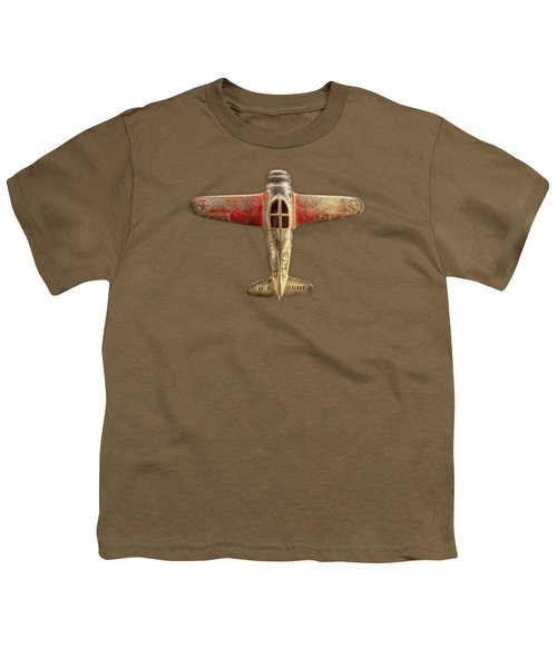 Toy Airplane Scrapper Pattern Youth T-Shirt