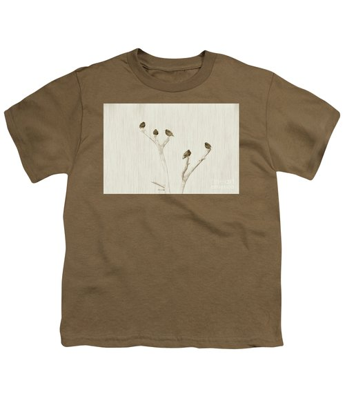 Treetop Starlings Youth T-Shirt by Benanne Stiens