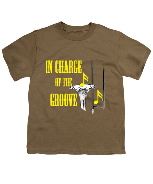 Trombones In Charge Of The Groove 5534.02 Youth T-Shirt by M K  Miller