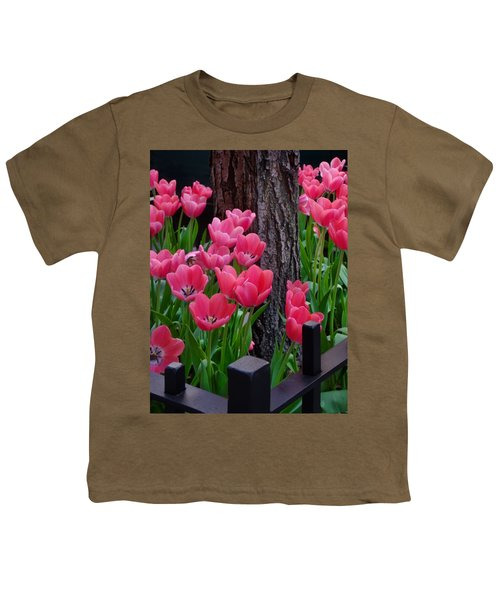 Tulips And Tree Youth T-Shirt by Mike Nellums