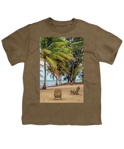 Two Chairs In Belize Youth T-Shirt