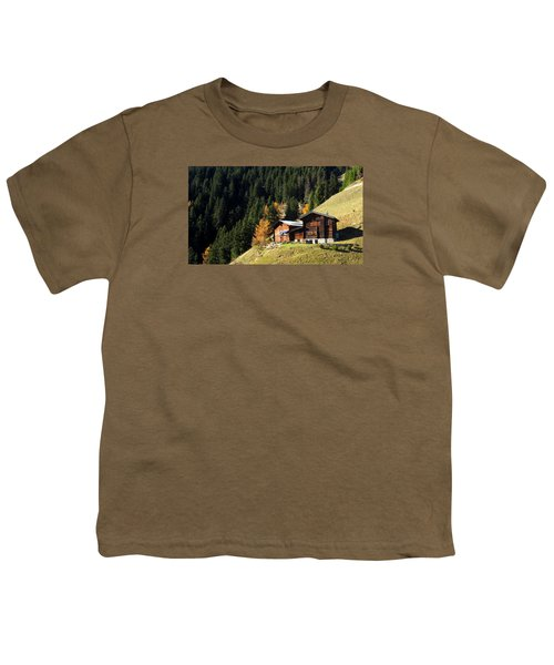 Two Chalets On A Mountainside Youth T-Shirt