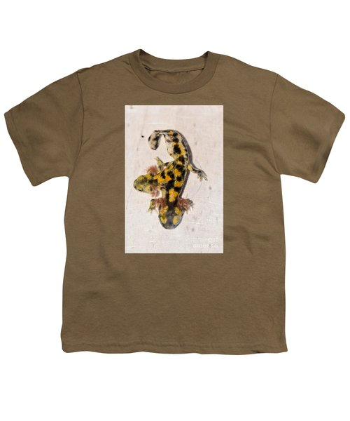 Two-headed Near Eastern Fire Salamande Youth T-Shirt by Shay Levy