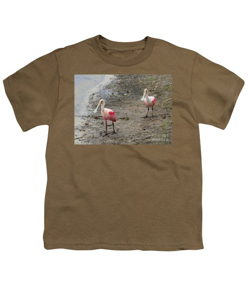 Two Roseate Spoonbills 2 Youth T-Shirt by Carol Groenen
