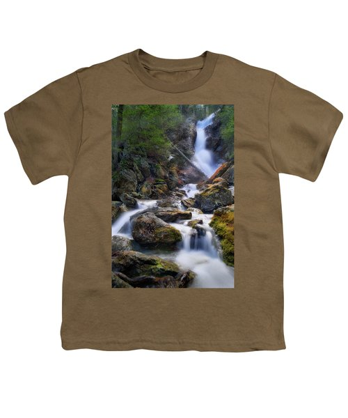 Youth T-Shirt featuring the photograph Upper Race Brook Falls 2017 by Bill Wakeley