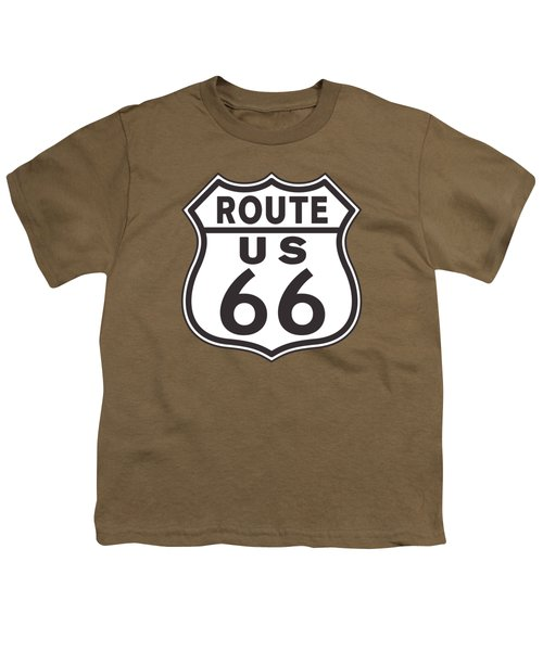 Us Route 66 Sign Youth T-Shirt