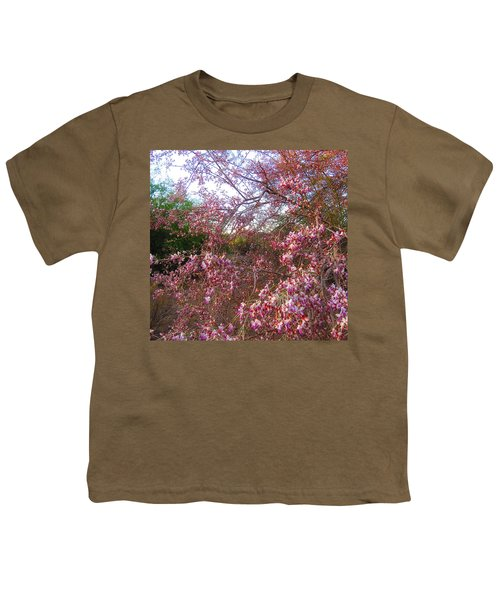Vekol Wash Desert Ironwood In Bloom Youth T-Shirt