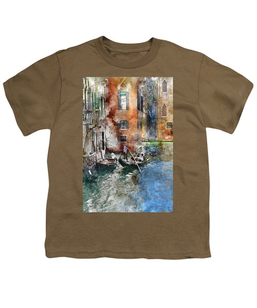 Venetian Gondolier In Venice Italy Youth T-Shirt