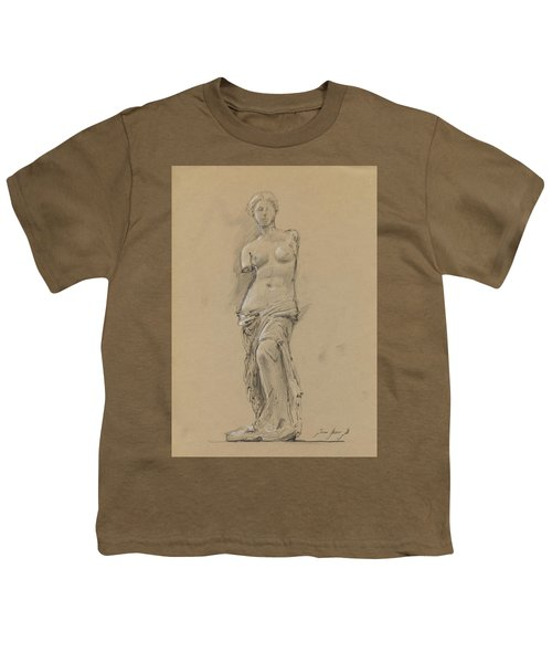 Venus De Milo Youth T-Shirt by Juan Bosco