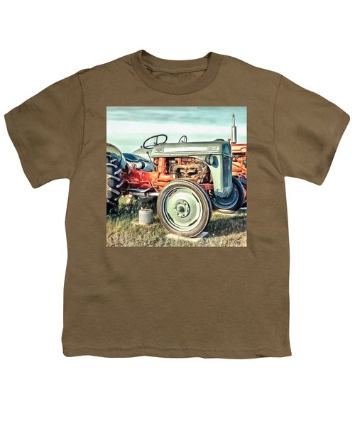 Vintage Tractors Pei Square Youth T-Shirt