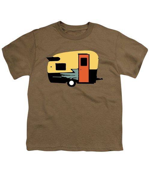 Vintage Travel Camper Transparent Youth T-Shirt