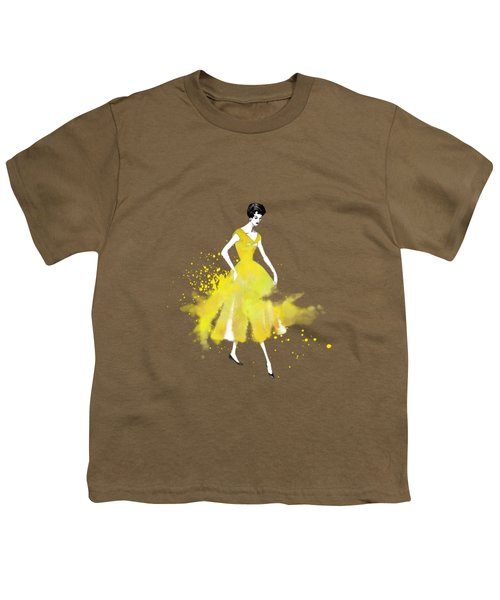 Vintage Yellow Dress Youth T-Shirt by Diana Van