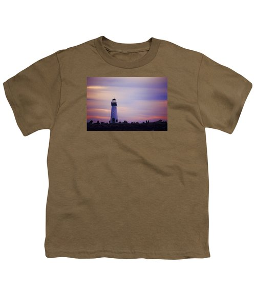 Youth T-Shirt featuring the photograph Walton Lighthouse by Lora Lee Chapman
