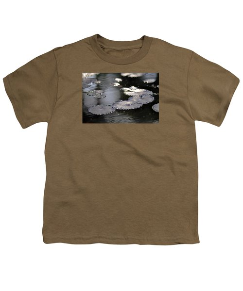 Youth T-Shirt featuring the photograph Water And Leafs by Dubi Roman