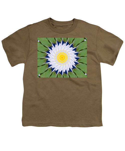 Water Lily Kaleidoscope Youth T-Shirt by Bill Barber