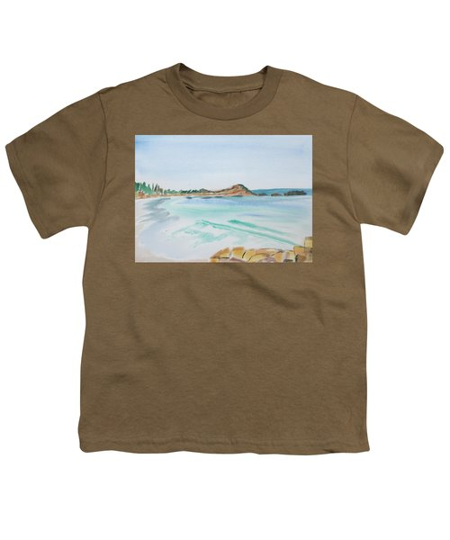 Waves Arriving Ashore In A Tasmanian East Coast Bay Youth T-Shirt