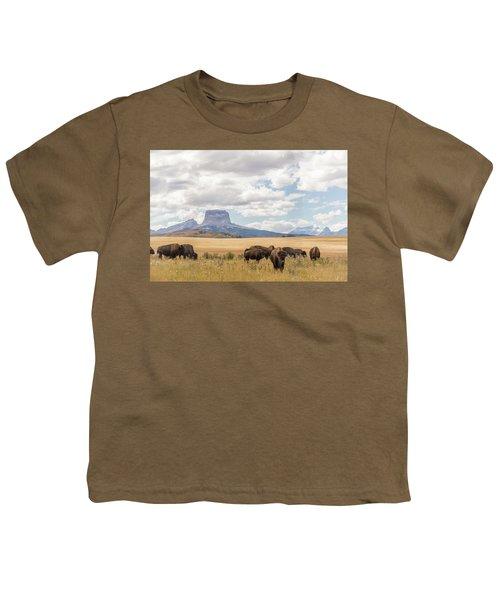 Where The Buffalo Roam Youth T-Shirt