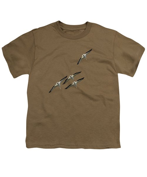 White Pelicans Transparency Youth T-Shirt