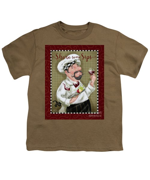 Wine Chef-share Some Sips Youth T-Shirt