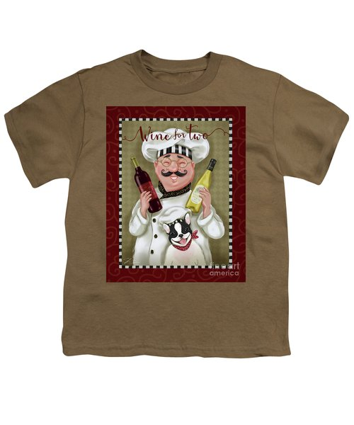 Wine Chef-wine For Two Youth T-Shirt