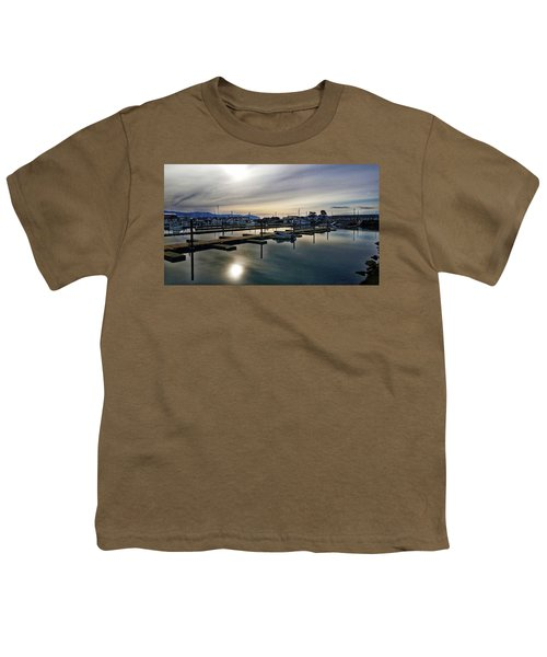 Winter Harbor Revisited #mobilephotography Youth T-Shirt