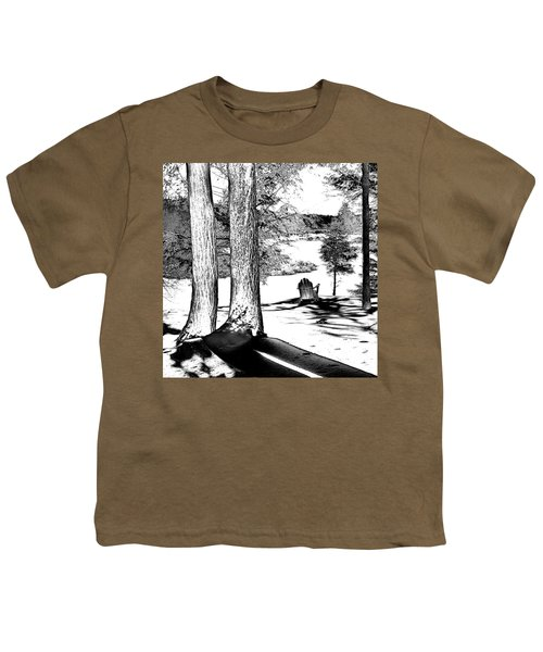 Youth T-Shirt featuring the photograph Winter Shadows by David Patterson